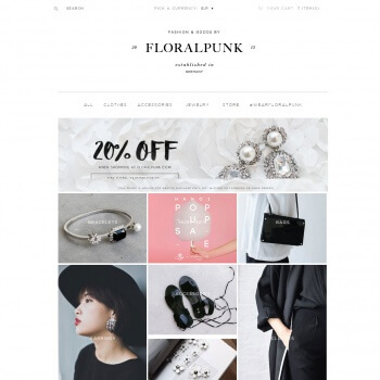 floralpunk.com home page- Shopify store by Shopify Developers Team