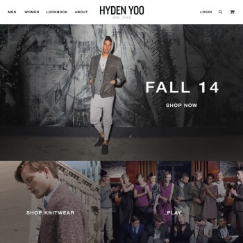 hydenyoo home page - Shopify store by Shopify Developers Team