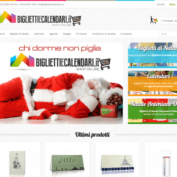 Prestashop card customize - bigliettiecalendari
