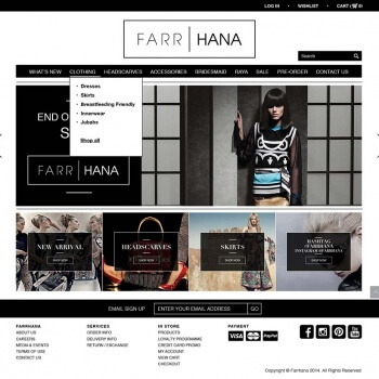 Farrhana - Magento for clothing brands in Singapore